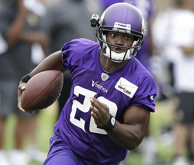 Adrian Peterson made news at the opening of camps with his thoughts on HGH testing.