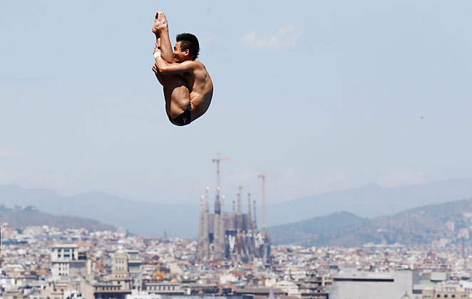 Qiu Bo garnered 581 total points over six dives to take home gold.