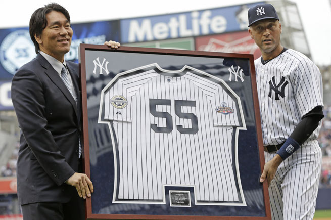 Hideki Matsui was the 2009 World Series MVP and played seven of his 10 MLB seasons with the Yankees.