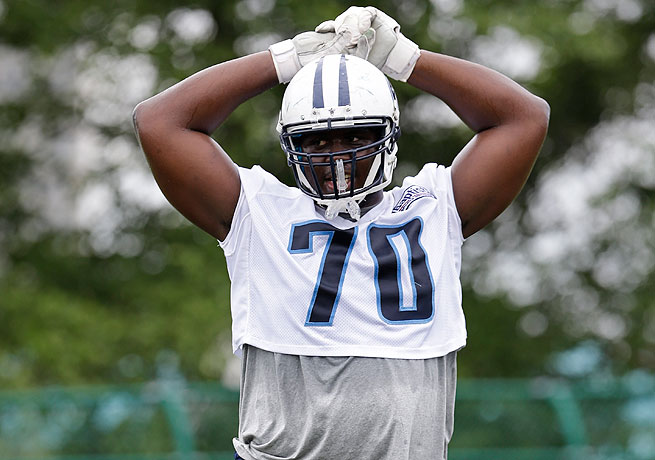 Tennessee selected Chance Warmack out of Alabama with the No. 10 pick in the 2013 draft.