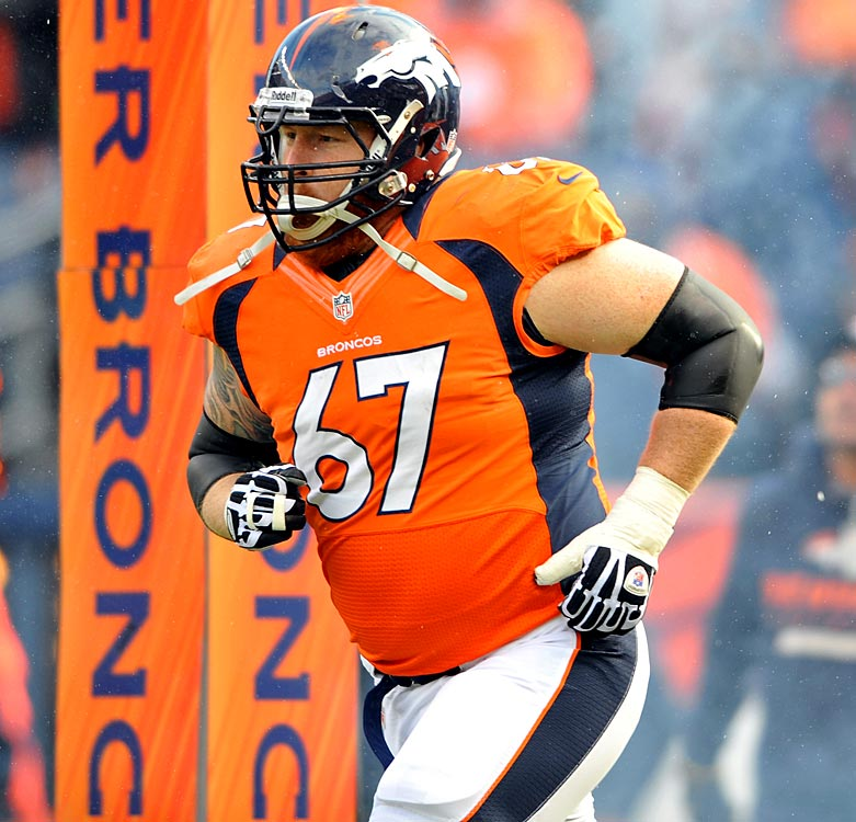 The Denver Broncos' offensive line, already banged up, suffered another blow when center Dan Koppen tore his ACL in his left knee in a team workout. Koppen joins a long list of injured or recovering Broncos offensive linemen, including Ryan Clady, Orlando Franklin, Chris Kuper and J.D. Walton. With Koppen likely out for the season, the Broncos will have to turn to Manny Ramirez, who started 11 games at right guard last season.