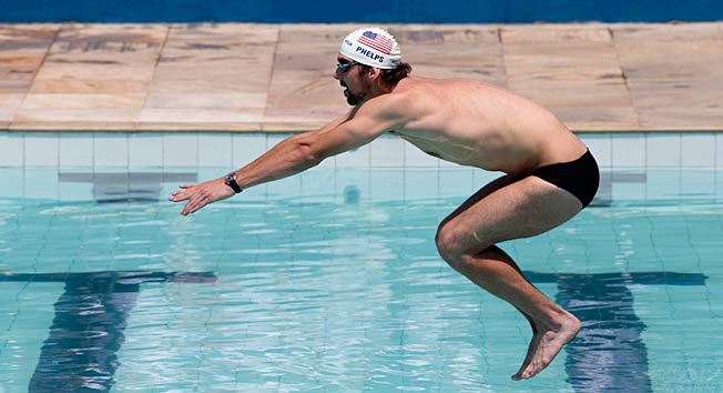 Michael Phelps says he hasn't planned on taking the plunge back into swimming, but it is possible.