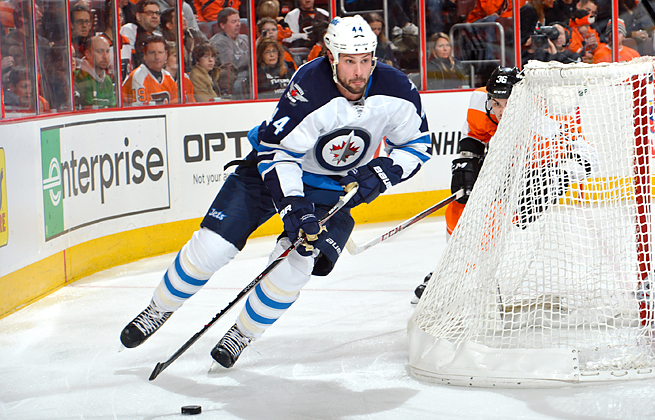 Defenseman Zach Bogosian has 34 goals and 69 assists in 297 games with the Jets franchise.