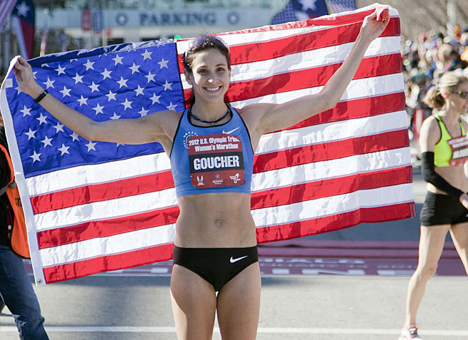 Kara Goucher ran her first NYC marathon in 2008.