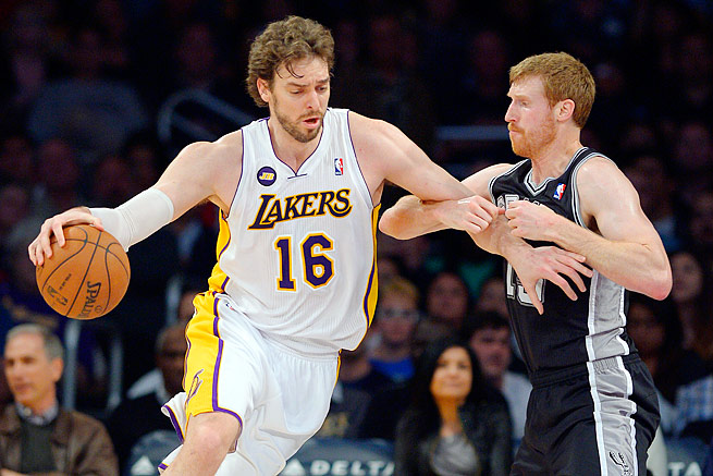 Pau Gasol (left) averaged a career-low 13.7 points in an injury-plagued 2012-13 season.