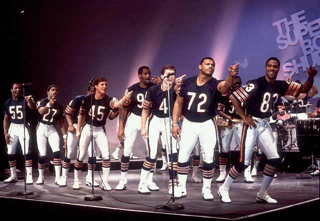 """The Super Bowl Shuffle,"" performed by the Chicago Bears Shufflin' Crew, became an instant hit and reached No. 41 on the music charts."