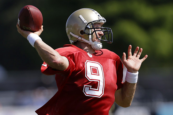 Brees hopes to lead the Saints back to success this season, after finishing a disappointing 7-9 last year.