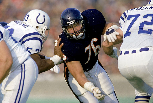 In 15 seasons (13 with the Bears), McMichael had 95 sacks, was a two-time Pro Bowl pick and a two-time, first-team All-Pro selection. He helped the Bears beat New England in Super Bowl XX. Former Bears coach Mike Ditka said McMichael was the toughest player he ever coached. Others worthy of consideration: Alex Karras, Gene Lipscomb, Rosey Grier, Bryant Young.