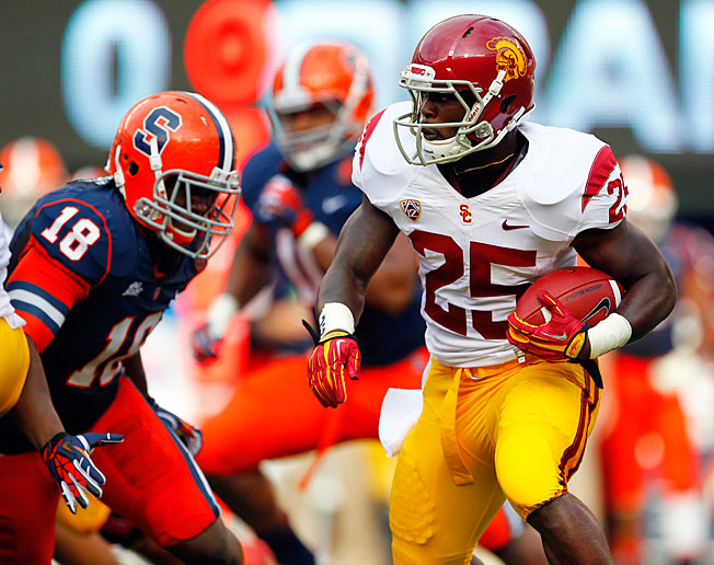 Silas Redd rushed for 905 yards and nine touchdowns last season as USC finished a disappointing 7-6.