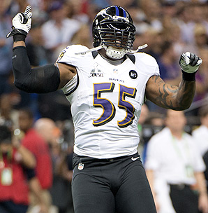 A slower, heavier Terrell Suggs tallied only two sacks in 2012.
