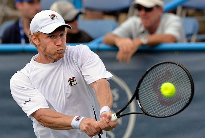 Dmitry Tursunov overcame 13 double-faults to beat Marinko Matosevic 6-3, 4-6, 7-6 (4) on Friday.