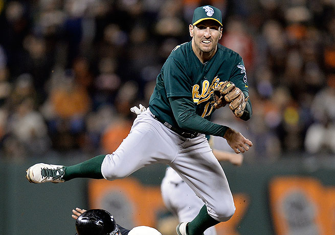 Adam Rosales had appeared in 50 games with the Oakland A's so far this season.