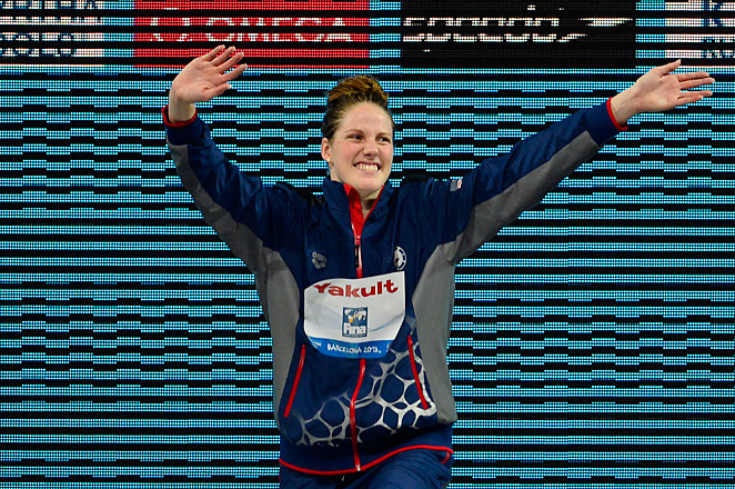 Missy Franklin tied the record for most victories by a female at the world championships.