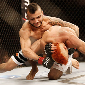 John Lineker improved his record to 22-6 after a second round TKO of Jose Maria at UFC 163.