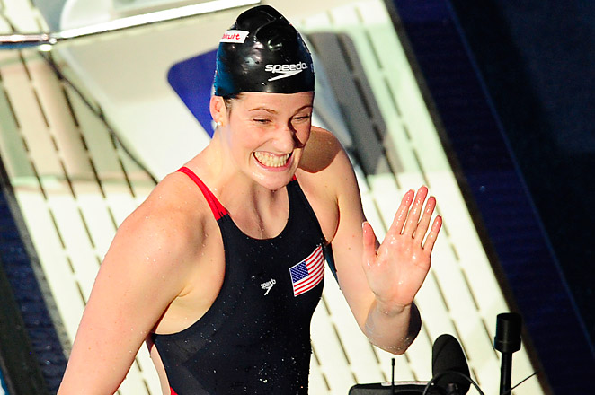 In the final event Sunday evening, Missy Franklin will have a chance to claim her record sixth medal.