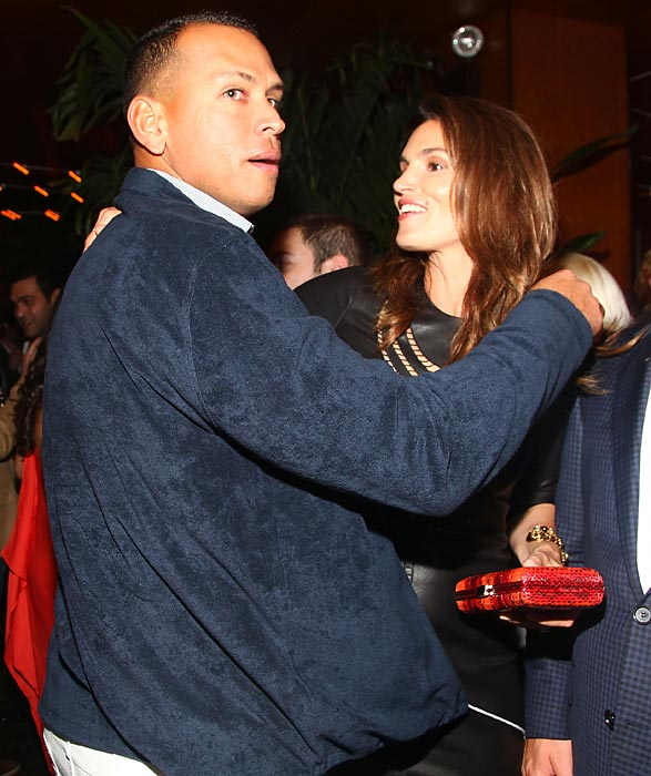 A-Rod attends the Caliche Rum party in May 2012 with Cindy Crawford.