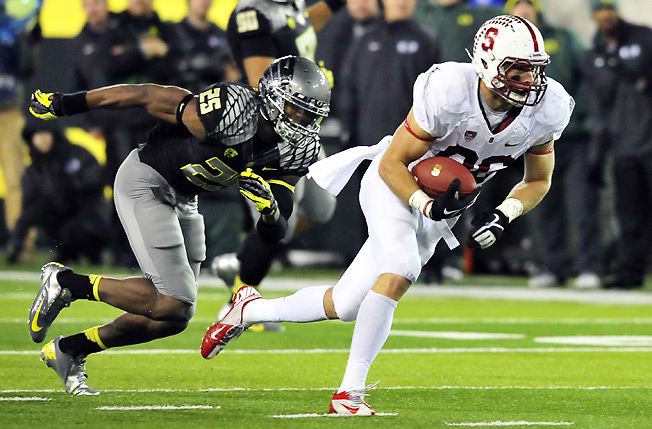 Tight end Zach Ertz hauled in 435 more receiving yards than any other Stanford player last season.