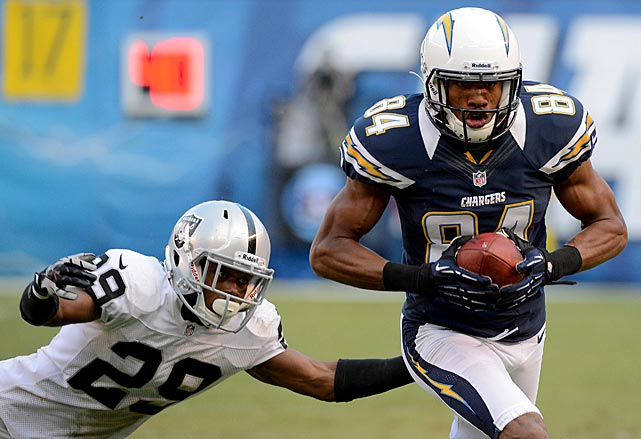 The Chargers second-leading receiver last year, Danario Alexander will be unavailable in 2013 after tearing the anterior cruciate ligament in his right knee.