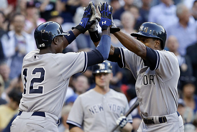 Alfonso Soriano, added during a trade last month, and the twice-injured Curtis Granderson are symbols of New York's fluctuating roster.