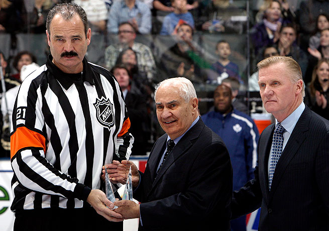 Terry Gregon (right) will continue to serve the NHL as a consultant on officiating matters.
