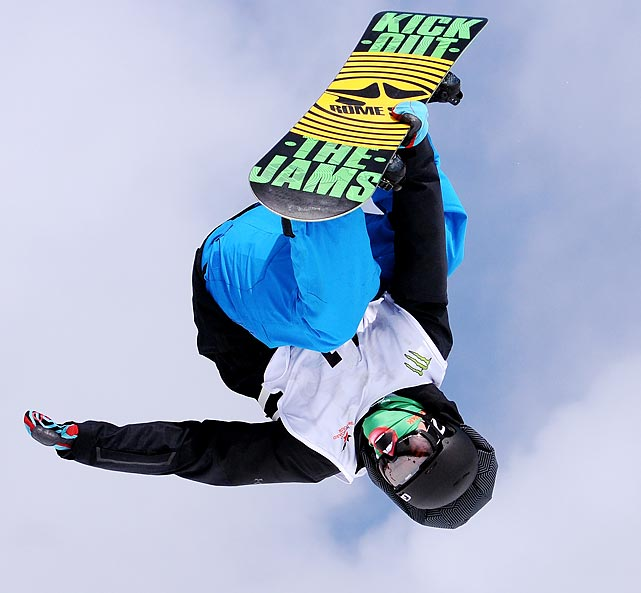 Jeremy Thompson competes at the World Snowboard Tour Slopestyle event at the World Ski and Snowboard Festival in Whistler, British Columbia.