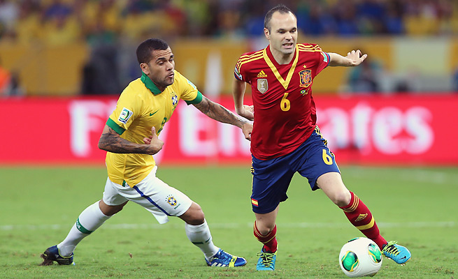 Despite losing to Brazil in the Confederations Cup final, Andres Iniesta and Spain maintain their No. 1 spot in the FIFA rankings.