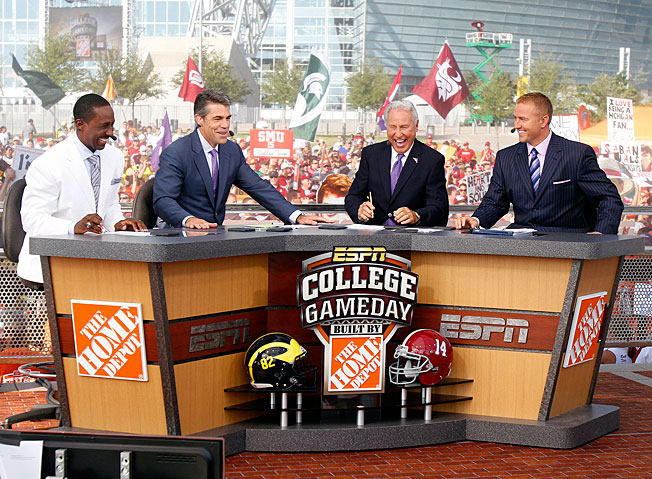 ESPN's <em>College GameDay</em> has become part of the weekly Saturday viewing experience for many fans.