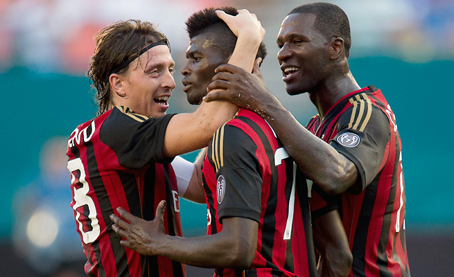 AC Milan drew PSV Eindhoven in the playoff round of the Champions League.