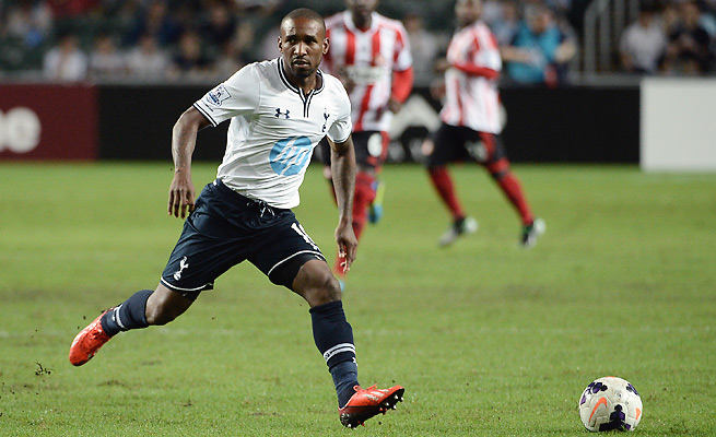 Jermain Defoe and Tottenham will open their Europa League campaign against Dinamo Tbilisi.