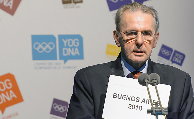 IOC President Jacques Rogge asked for patience as the IOC seeks reassurances from Russia regarding its new anti-gay law.