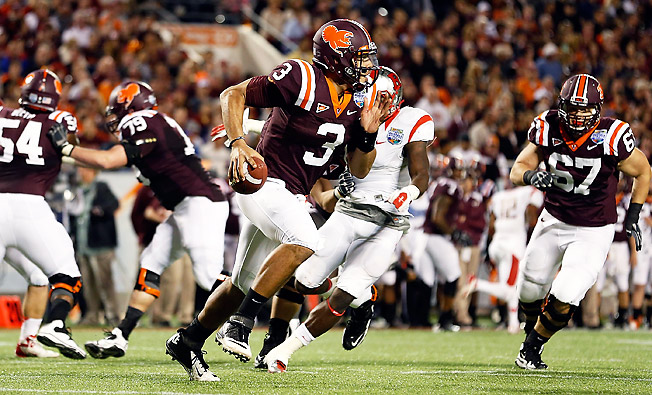 Logan Thomas hopes to rebound after throwing more picks and fewer touchdowns in 2012 than in '11.