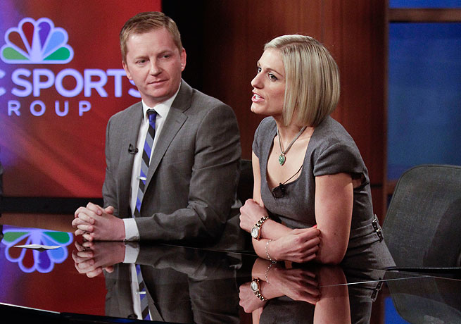 Rebecca Lowe (right) will anchor NBC Sports' upcoming coverage of the English Premier League.