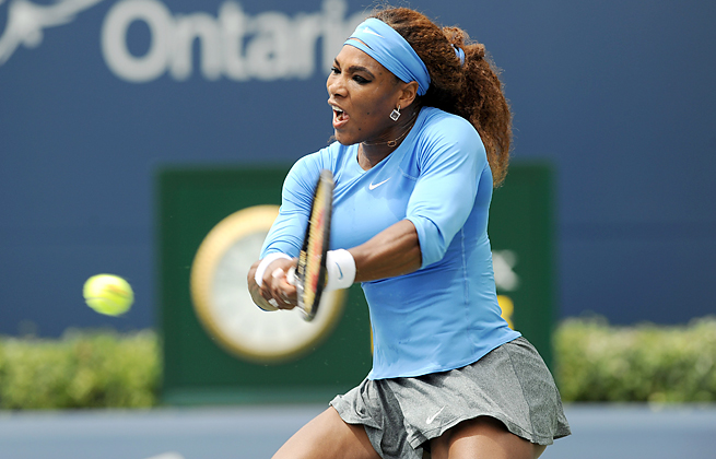 Serena Williams won easily in Toronto to notch her third Rogers Cup title and the 54th of her career.