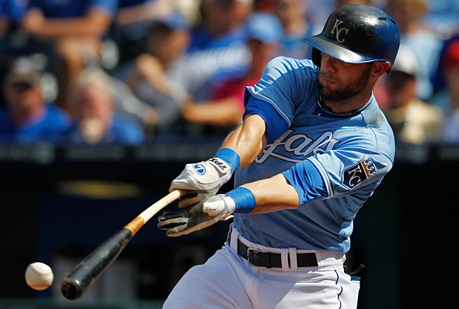 The Royals are last in the AL in home runs and Alex Gordon's modest total of 13 leads the team.