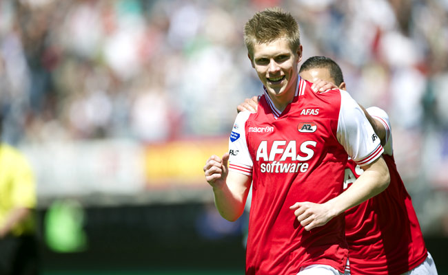 Former Iceland international Aron Johannsson plays for AZ Alkmaar in the Netherlands.