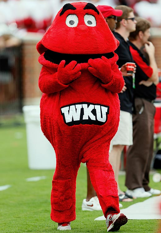 #9: Western Kentucky's Big Red — Big Red has gone Hollywood and gets featured in a bunch of ESPN commercials.