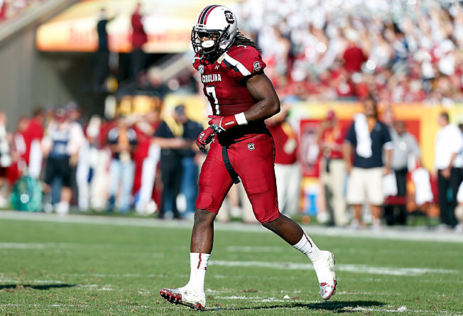 Jadeveon Clowney racked up 13 sacks and 23.5 tackles for loss during his standout sophomore season.