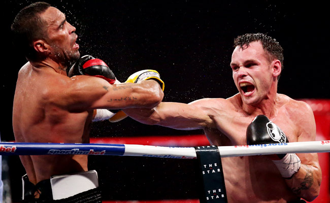 Daniel Geale (right) defeated by a unanimous decision in January.
