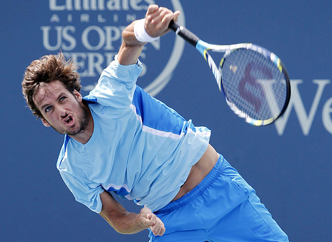 Feliciano Lopez was brought in to play an exhibition during the women's event in Montreal last week.