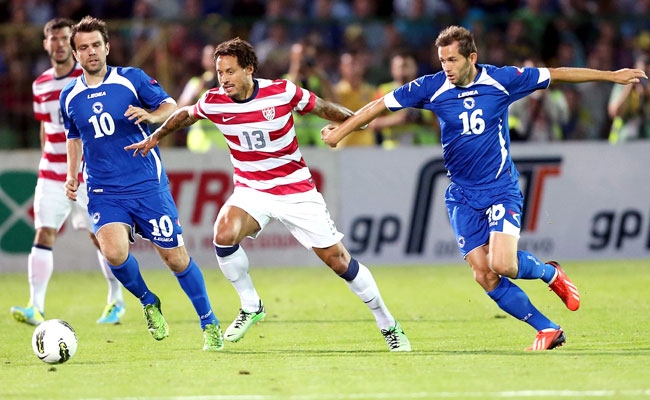 The United States trailed Bosnia-Herzegovina 2-0 at halftime.