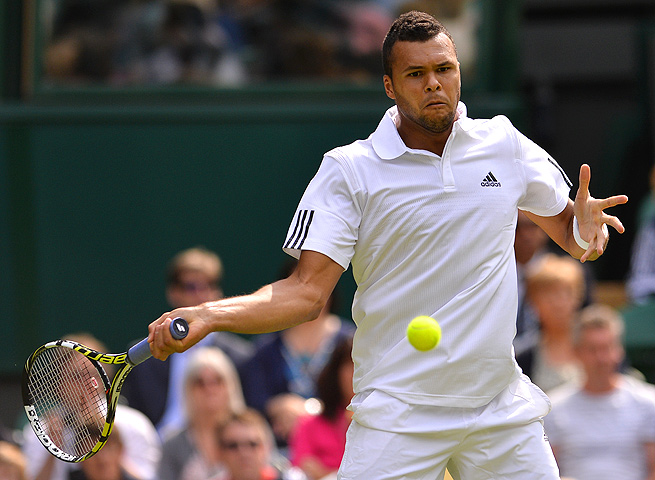 At Wimbledon, Jo-Wilfried Tsonga withdrew during his second-round match against Ernests Gulbis.