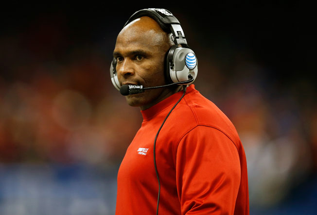 Charlie Strong is 25-14 over his three-year Louisville tenure, headlined by last season's Sugar Bowl win.