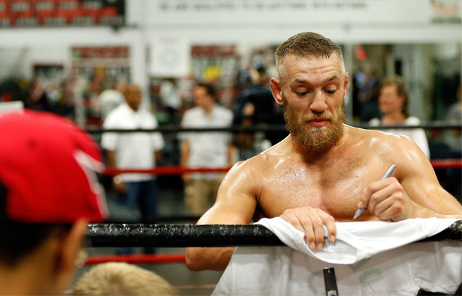 Conor McGregor will fighting in the UFC's inaugural event on Fox Sports 1 in Boston this Saturday.