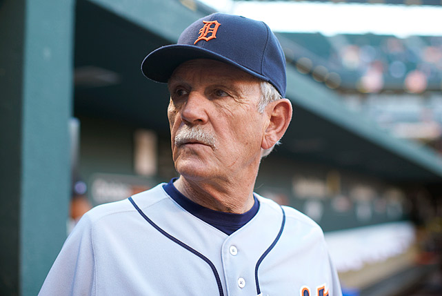 Jim Leyland is stepping down as Tigers manager, according to Ken Rosenthal of FOX Sports. Leyland, 68, reportedly told his players it was time for someone younger to step in and do the job at the end of the ALCS. The Tigers were eliminated by the Red Sox in Game 6 Saturday. Leyland won two pennants (2006 and 2012), three AL Central titles and made the playoffs four times with a record of 700-597 in his eight seasons in Detroit. Leyland had been one of the longest-tenured managers in Major League Baseball. Here are the rest still with their respective teams.