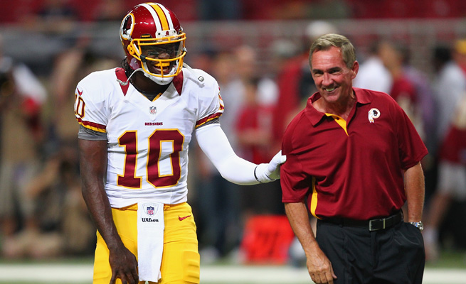 Redskins GM Bruce Allen said there's no feud between Robert Griffin III and Mike Shanahan.
