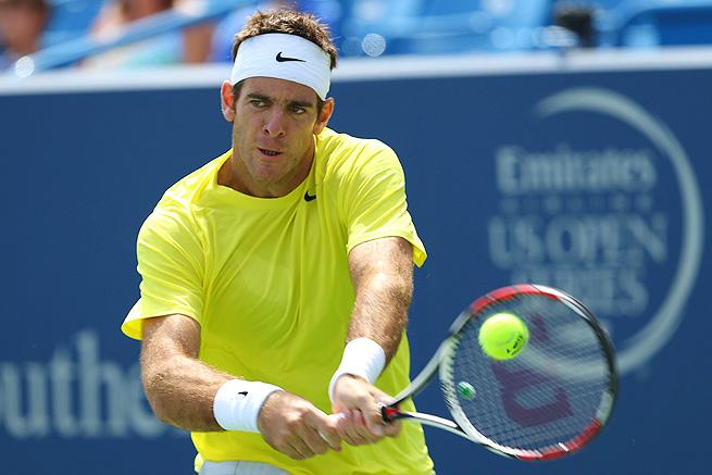 Juan Martin del Potro defeated Dmitry Tursunov 6-4, 3-6, 6-1 to move into the semifinals in Cincinnati.