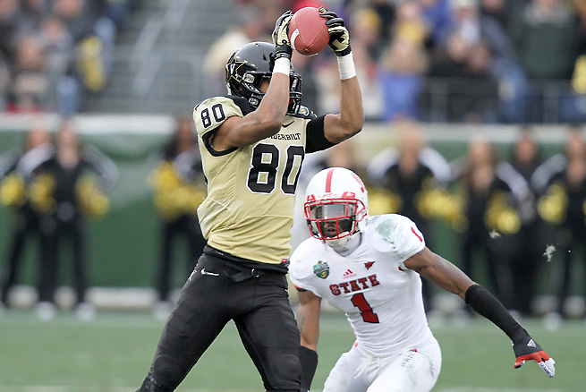 Vanderbilt's Chris Boyd was one of the Commodores' leading receivers in 2012.
