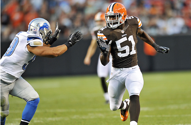 Linebacker Barkevious Mingo was selected sixth overall by the Browns in April's NFL draft.