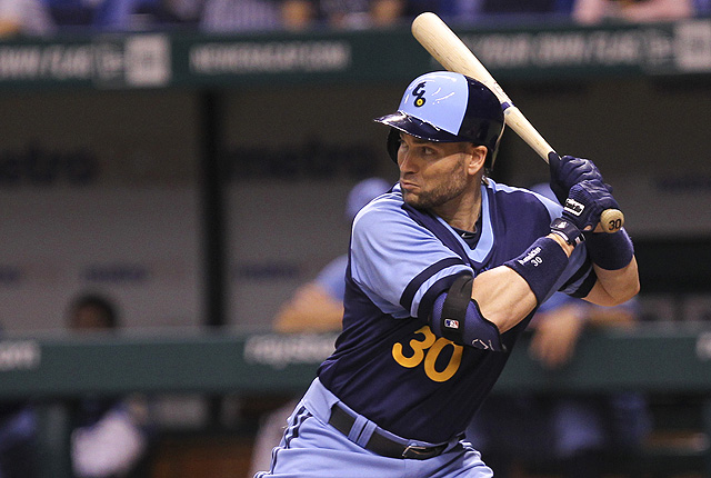 Scott is batting .249 with 9 homers and 39 RBIs for the Tampa Bay Rays this season.