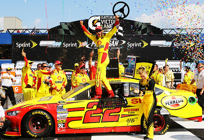 Logano entered the weekend in 16th place in the points standings in the Chase for the Sprint Cup.